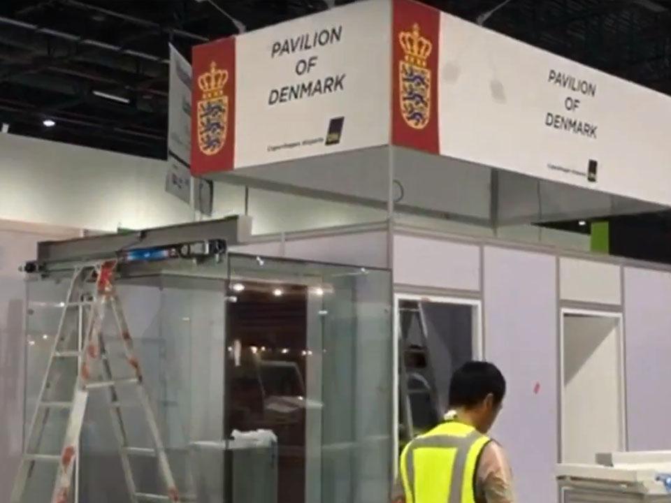 Pavilion of Denmark at Dubai Airport Show