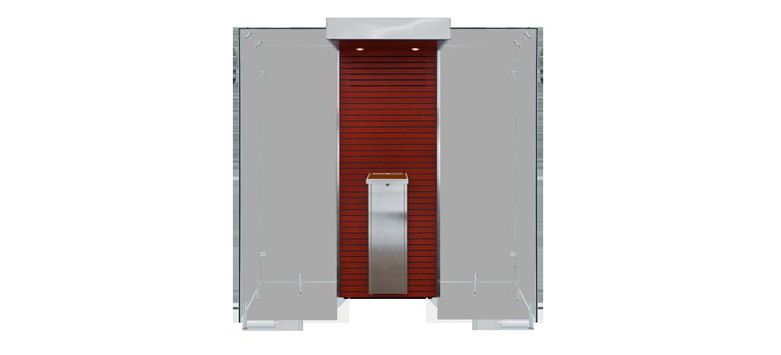 Mahogany and Metal - Open Modular Smoke Cabin